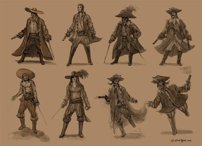 Pirates Sketches