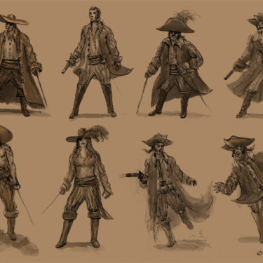 Pirates Sketches