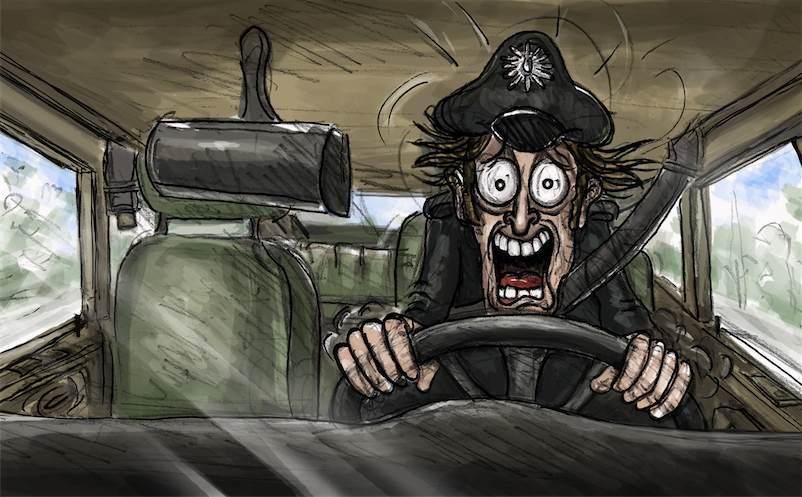 Dem Polizisten geht ein Licht auf