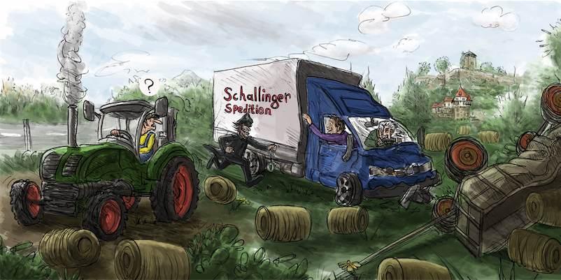 Unfall auf dem Lande