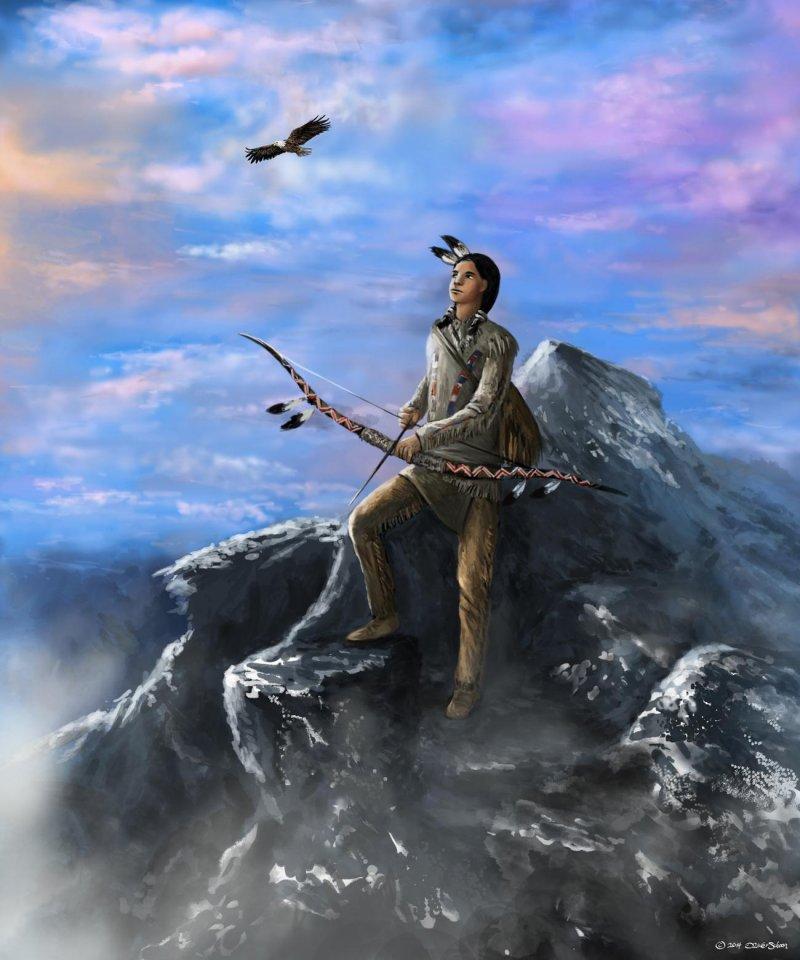 indianer auf der Jagd